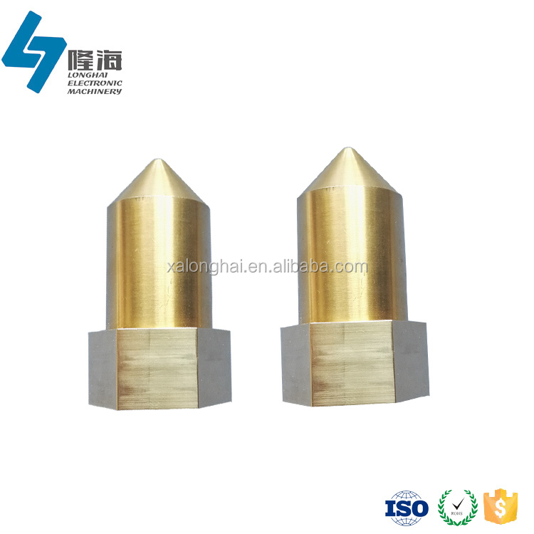 Finely processed brass product female thread hexagonal hollow bar