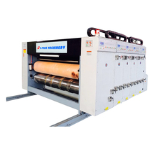 2 color printing slotting die cutting carton machine, corrugated carton box printing slotting die cutting machine
