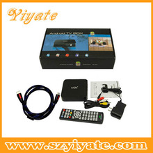 Dual core Android 4.2 TV set top box support HLS stream,AML MX tv box factory android internet stream tv box