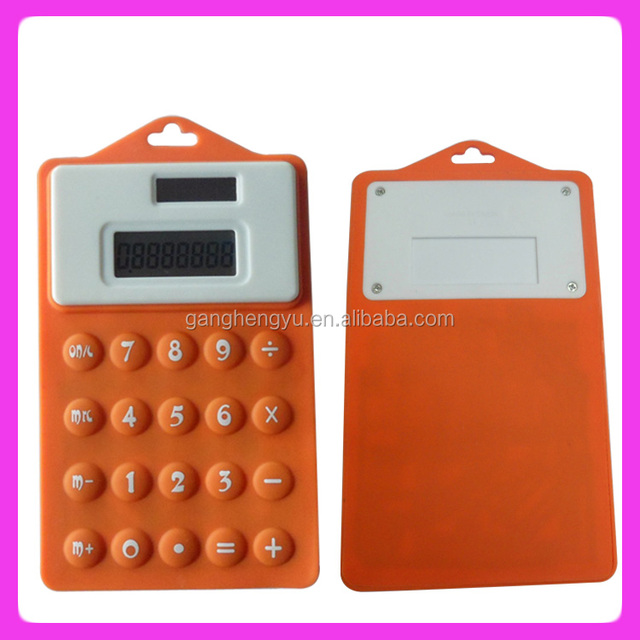 Silicone solar pocket calculator promotional gifts