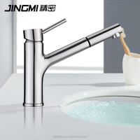 JM023 Single Lever Cold And Hot Water Brass bathroom wash pull out Kitchen Faucet