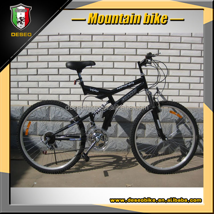 2016 24 size double suspension old style 21S mountain bicycle