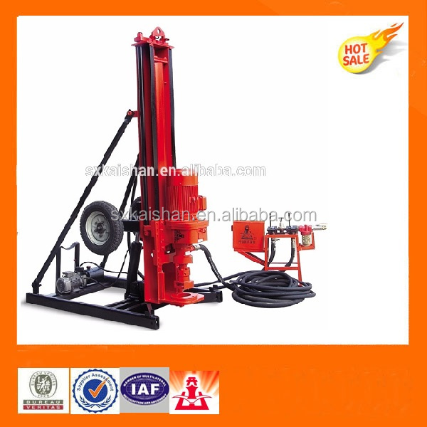 KAISHAN borehole drilling machine Wheel mounted portable water well drilling rig KQD165B