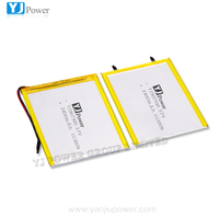 lithium ion battery 2400mAh 3.7V lithium polymer rechargeable battery