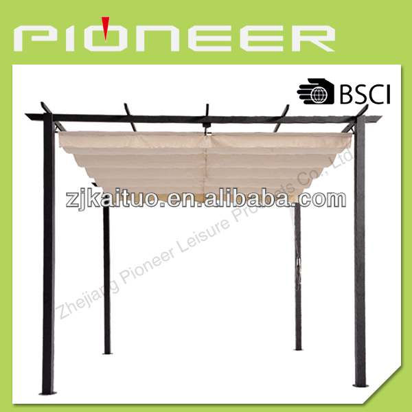 3*3*2.2M Pergola W ADJUSTABLE SHADE, new,modern,popular,outdoor,fashion,useful,metal gazebo