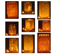 Hot sale purse illuminating lantern paper candle bags