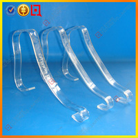 Custom lucite clear sandal strap support