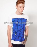 Top international clothing brands male t shirt with yarn
