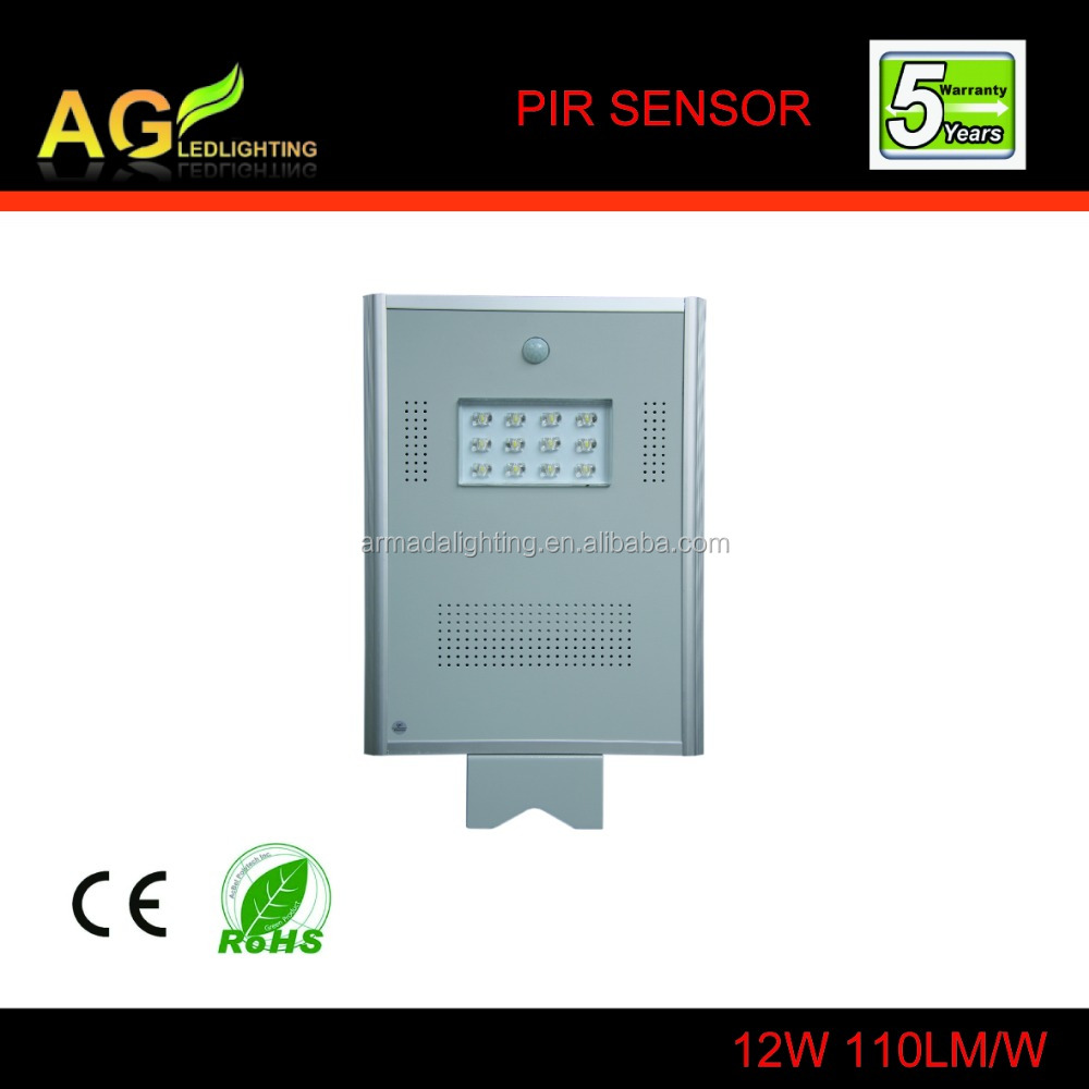 12w Intergreated Outdoor solar power motion sensor led street light