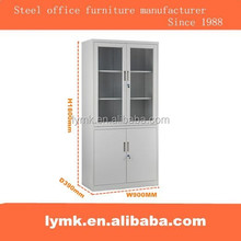 Steel office furniture laboratory used glass swing door filing cupboard/metal dental drug storage cabinets for sale