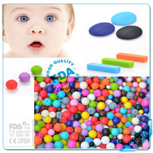 Safety Food Grade loose silicone beads for teething jewelry