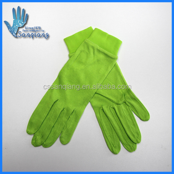 Changshu factory price 100%silk silk gloves/thin silk skiing glove liners