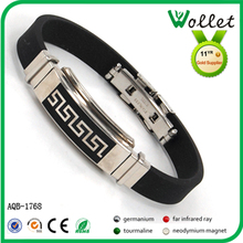China manufacturer power energy bracelet with silicone material and negative ions