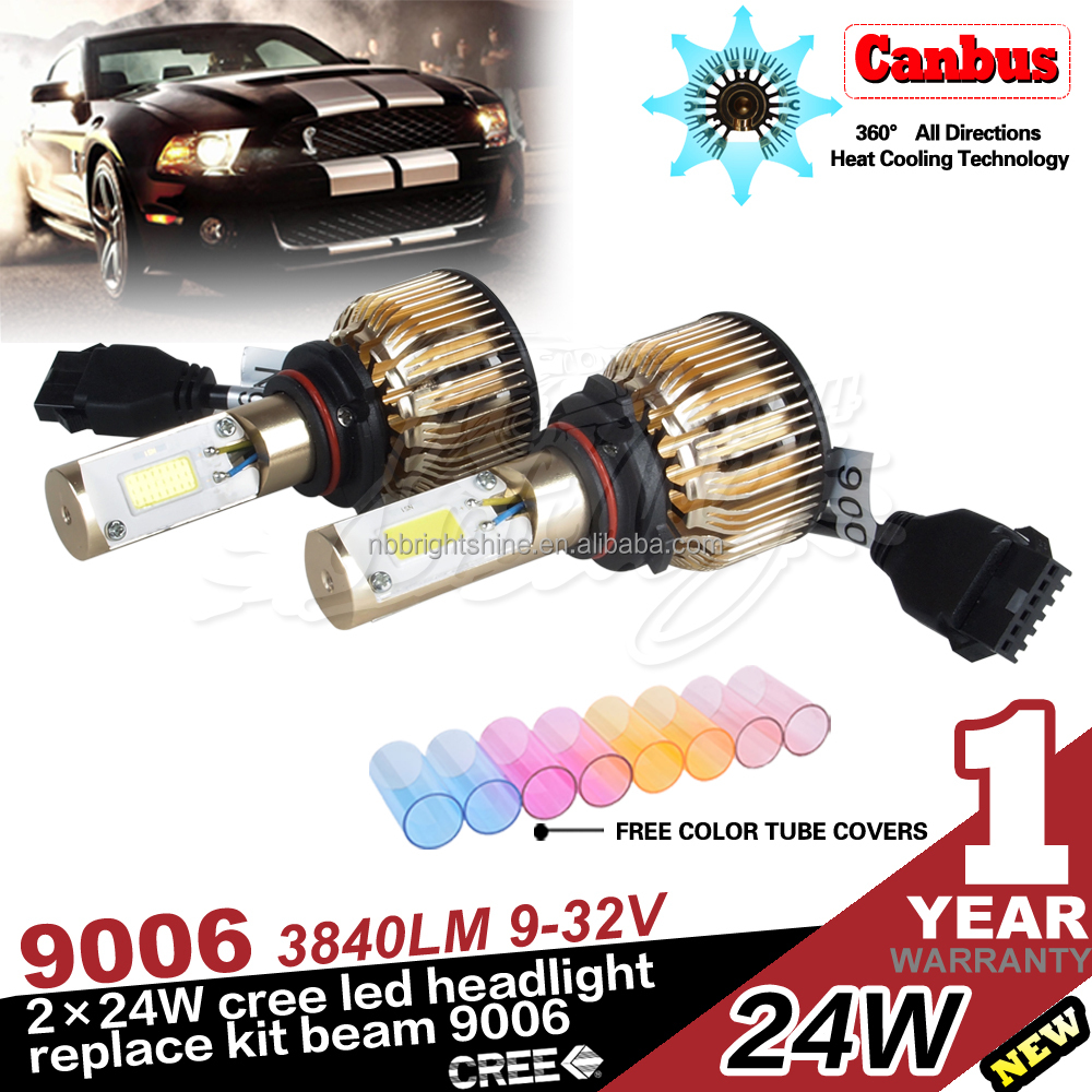 USA STOCK High power 12V 24V 9006 80W car led bulb light