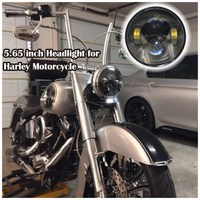 5.75 inch replacement of PAR46 sealed beam LED headlight for Harley motorcycle