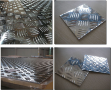 Small five bars aluminum sheet 1050 1200 H14 embossed aluminum plate sheet