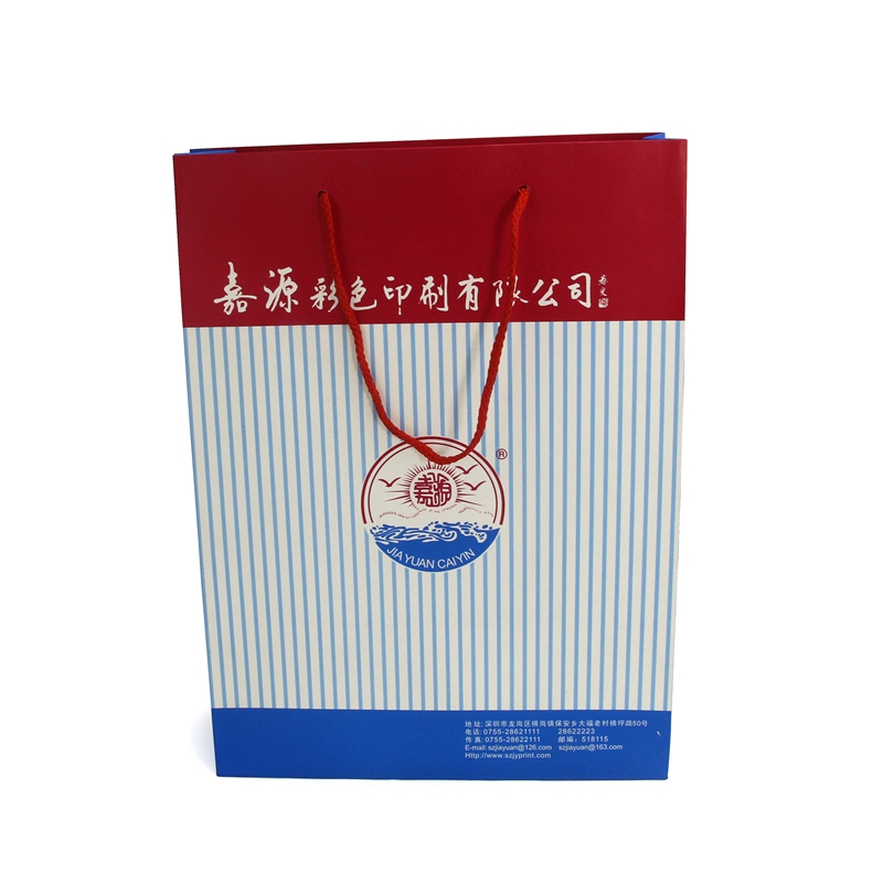 Personalized design wholesale paper shopping bag