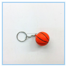 mini 40mm PU stress basketball with keyring
