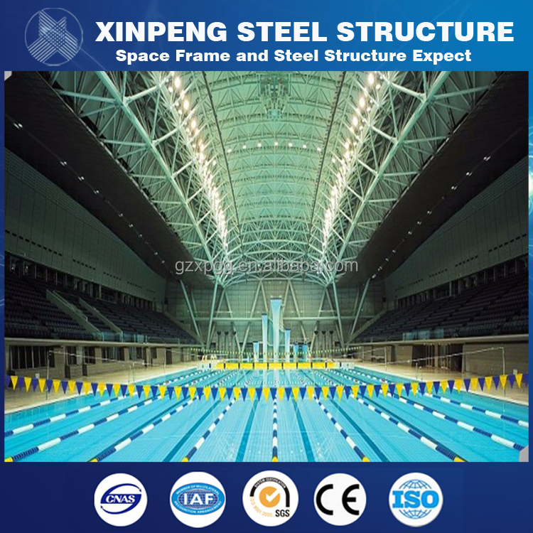 Structure Swimming pool Steel Roof Truss Design