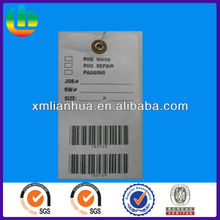 Personalized Garment Tactel Paper Hang Tags with Steel Wire for Clothing