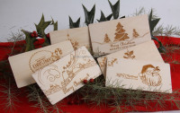 laser engraved Christmas card