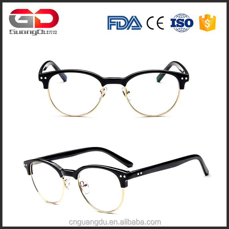 Hot sale Half Metal Glasses Frame Women Fashion eyewear Frames PC Goggles Students Myopia Eyeglasses frames wholesale