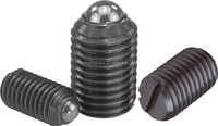 long-lok secured spring plungers with recess and pressure pin