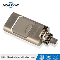 Gadgets hot selling otg usb disk 3 in 1 usb flash drive for iphone smart phone usb pendrive