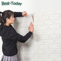 UCHOME DIY Self-adhesive 3D Wall Stickers Bedroom Decoration Foam Brick Decoration Wallpaper Wall Decoration Wall Sticker