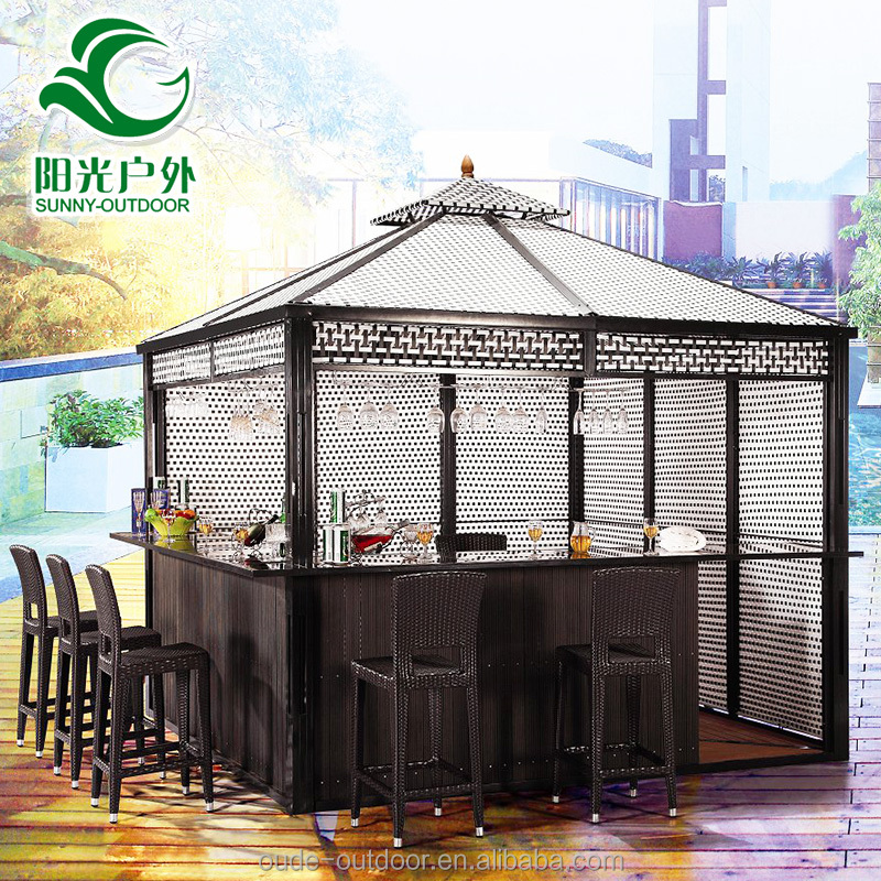Factory direct luxury waterproof modern gazebo with bar