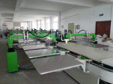 Korea Tech Super Precision 10 Colors Full Automatic Oval T-shirt Silk Screen Printer/Printing Machine