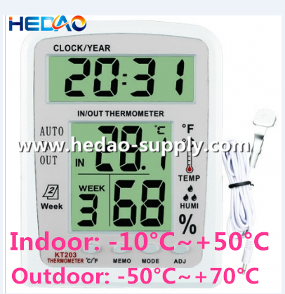Indoor outdoor weather station cheap digital thermometer outdoor