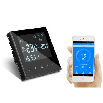 Wifi Smart Digital Fan Coil Thermostat With Programmable Timer