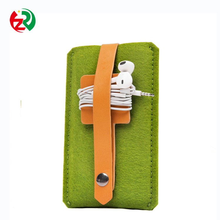 Fashion colorful felt mobile phone pouch /bag/case /cover/sleeve