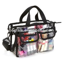 CMT528 Multifunction Clear PVC Large Cosmetic Bags With Compartments