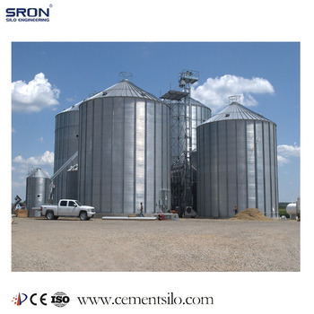 SRON Customized Steel Grain Silo System With Drying, Cleaning, Lifting, Feeding System