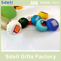 Factory wholesale Custom printed silicone beer bottle caps / crown caps