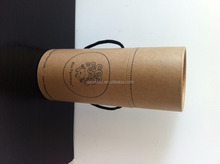 Natural brown kraft paper cardboard rolling up tube