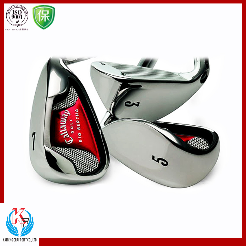 Wholesale top quanlity custom logo metal sticker nickel tag golf label