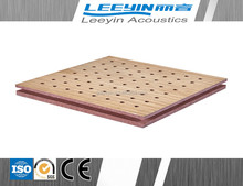 high quality wooden perforated panel for studios and meeting room
