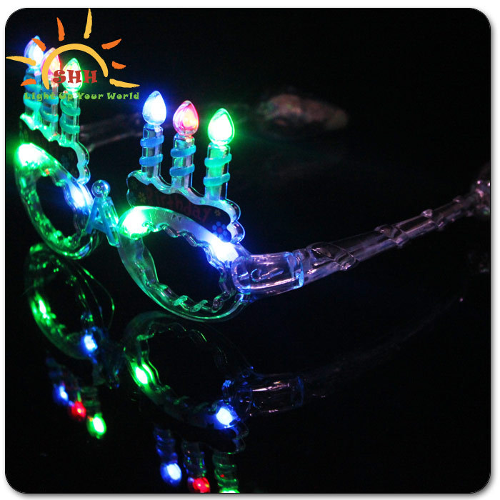 birthday party decoration supplies led sunglasses light up, birthday souvenir gift flashing sunglasses with music