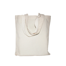 Recycled foldable cotton canvas shopping bag good for promotional and advertising