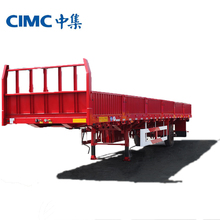 China Well-known Side Wall Semi Trailer Cheap Cargo Truck And Trailer
