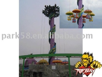 Theme park rides equipment Little Altitude parachute tower