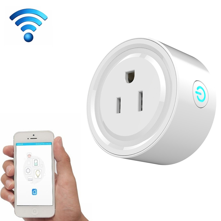 High quality10A Round Shape WiFi Mini <strong>Plug</strong> APP Remote Control Timing Smart Socket Works with Google Home AC 100-240V US <strong>Plug</strong>