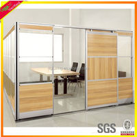MDF living room kitchen partition glass desk partition