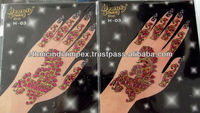 HAND glitter sticker TATTOO