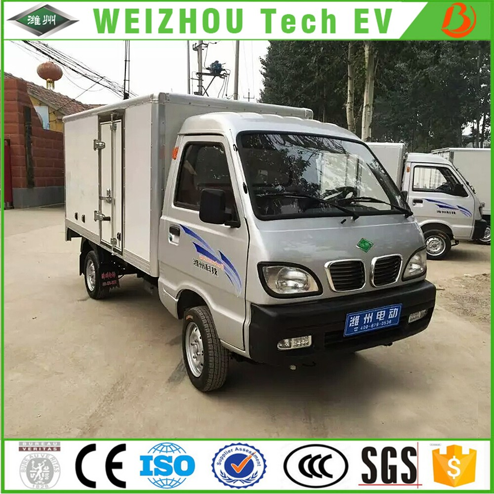 electric box cargo truck with Pure Electric