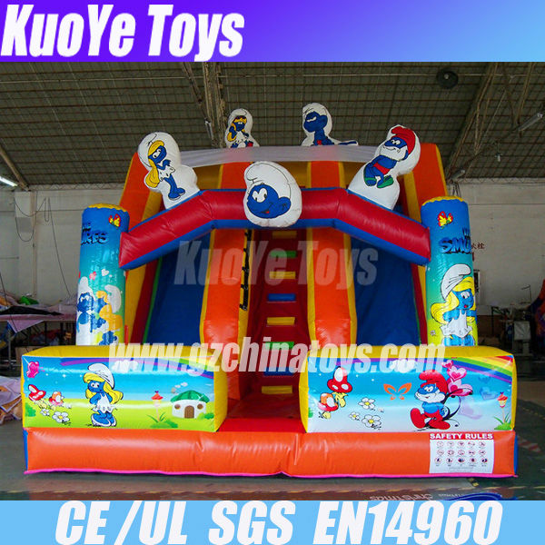 cartoon inflatable children slides