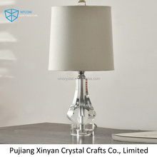 2016 hot home goods crystal table lamps for hotel decoration